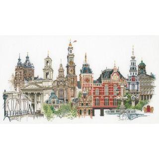 Borduurpakket Amsterdam Linnen - Thea Gouverneur