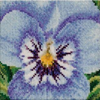 Borduurpakket Viooltje lichtblauw-wit - Thea Gouverneur