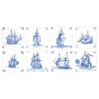 Thea Gouverneur Antieke Tegels - Delfts Blauw