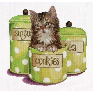 Borduurpakket Kitten Cookie Time - Thea Gouverneur