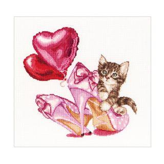 Borduurpakket Valentine's Kitten - Thea Gouverneur