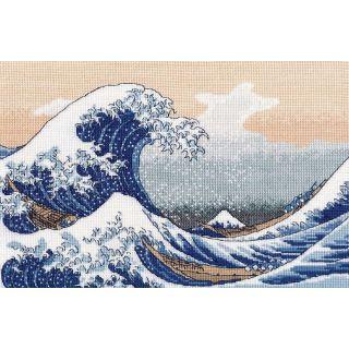 The big wave in Kanagawa - naar de houtsnede van de Japanse kunstenaar Katsushika Hokusai