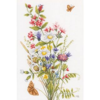 Borduurpakket Veldbloemen Katoen - Marjolein Bastin