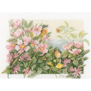 Borduurpakket Vogeltjes en wilde rozen - Marjolein Bastin
