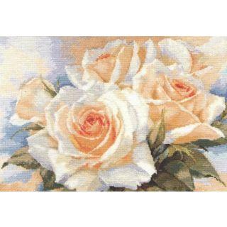 Borduurpakket White Roses - Alisa