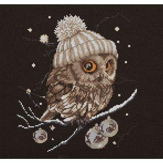 Borduurpakket Whoo.. Whoo.. It's Winter - Thea Gouverneur