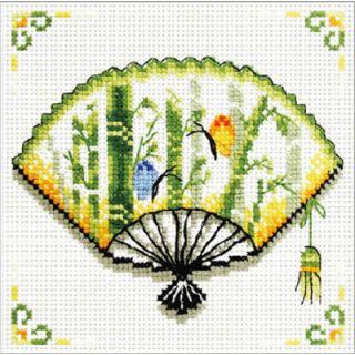 Borduurpakket Bamboo Fan voorbedrukt - Needleart World