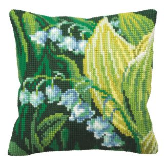 Kussen borduurpakket Muguet Droite - Collection d'Art