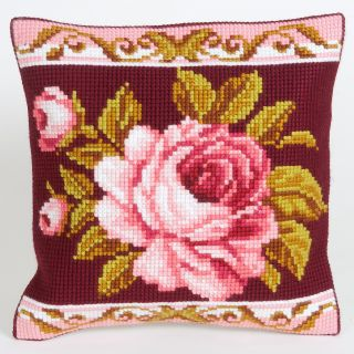 Kussen borduurpakket Romantique Rose 2 - Collection d'Art