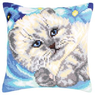 Kussen borduurpakket Cute Kitten - Collection d'Art