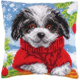 Kussen borduurpakket Woolly Winter - Collection d'Art