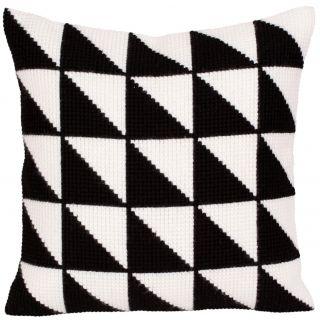 Kussen borduurpakket Black-and-white - Collection d'Art