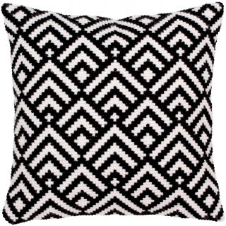 Kussen borduurpakket Black-and-white - Collection d'Art