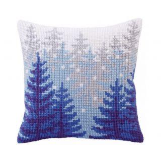 Kussen borduurpakket Winter forest - Collection d'Art