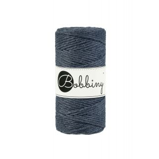 Bobbiny Macrame Triple Twist 3 mm - Charcoal