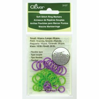Soft Stitch Ring Markers - Clover