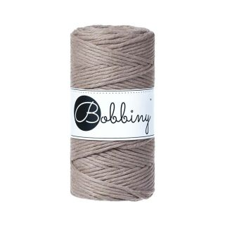 Bobbiny Macrame Triple Twist 3 mm - Coffee