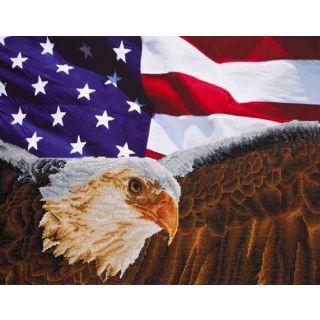 Diamond Dotz - Bald Eagle and American flag