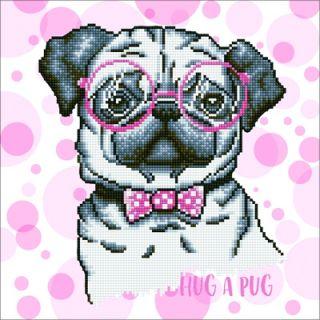 Diamond Dotz - Hug A Pug - Diamond Painting