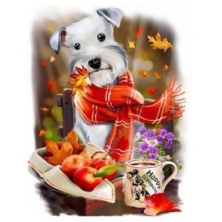 Diamond Painting Autumn Dog - Wizardi