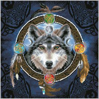 Diamond Dotz - Celtic wolf Guide - Diamond Painting
