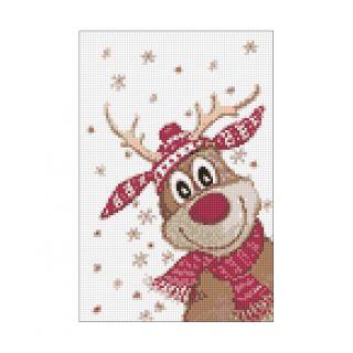Diamond Painting Christmas Deer - Wizardi