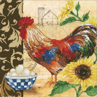 Diamond Dotz - Country Rooster - Diamond Painting