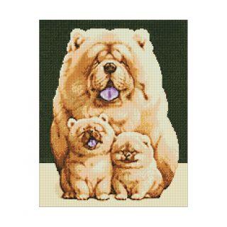 Diamond Painting Fluffy Family - Wizardi