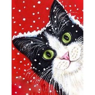 Diamond Painting Holiday Cat - Wizardi