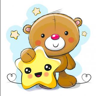 Diamond Painting Little Bear with Star - Wizardi