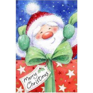 Diamond Painting Santa with Gift - Wizardi