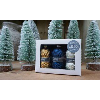 Kerstbollen Glas blauw - Durable