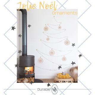 Jolie Noël Ornaments haakpakket - Durable