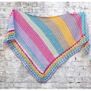 Haakpakket Omslagdoek Stripes (tunisch) - Durable