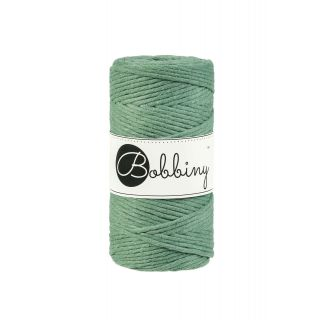 Bobbiny Macrame Triple Twist 3 mm - Eucalyptus Green