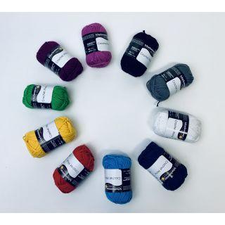 Crochet mini bolletjes multi color - Schachenmayr