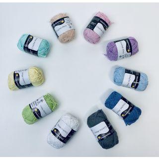 Crochet mini bolletjes pastel - Schachenmayr
