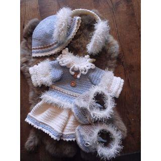 Haakpakket Funny Bunny XXL kledingset - Winter girl