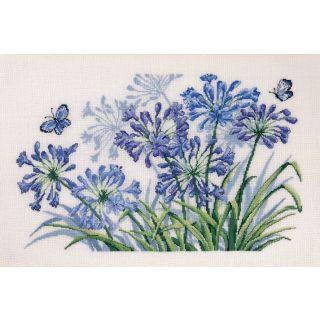 Borduurpakket The flower of love Linnen - Permin