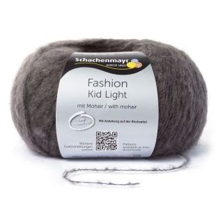 Kid Light met mohair - antraciet - SMC