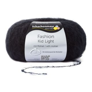 Kid Light met mohair - zwart - SMC