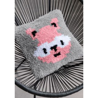 Knoopkussen Dendennis Raccoon roze - Little Woodlands adventures