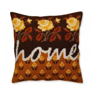 Kussen Home - borduurpakket Collection d'Art