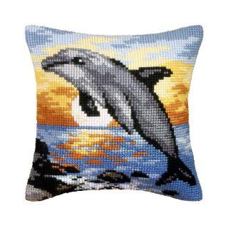 Kussenpakket Dolphin Sunset borduurpakket - Orchidea