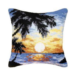 Kussenpakket Sunset on the Beach borduurpakket - Orchidea