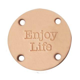 Label rond Enjoy life - leer 45 mm