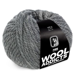 Lang Yarns Wooladdicts Fire - 005 medium grey