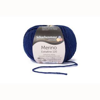 Merino Extrafine 120 - 00158 diepblauw - SMC