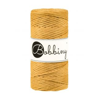 Bobbiny Macrame Triple Twist 3 mm - Mustard