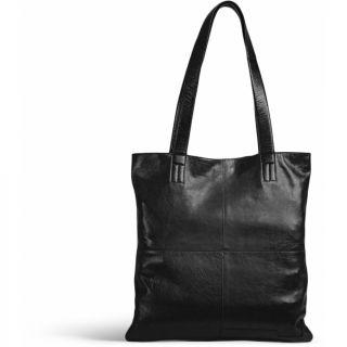 Lederen shopper Show zwart - MUUD